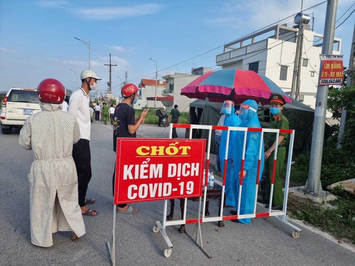 Chốt kiểm dịch COVID-19 trên địa bàn tỉnh Hưng Yên.