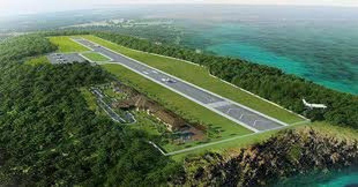 Dự án sân bay quốc tế Dara Sakor. (Ảnh: Ou Dom).