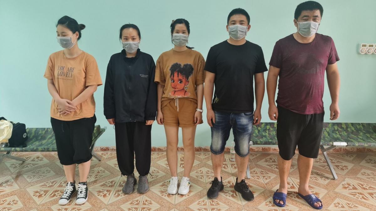 5 đối tượng người Trung Quốc nhập cảnh trái phép.