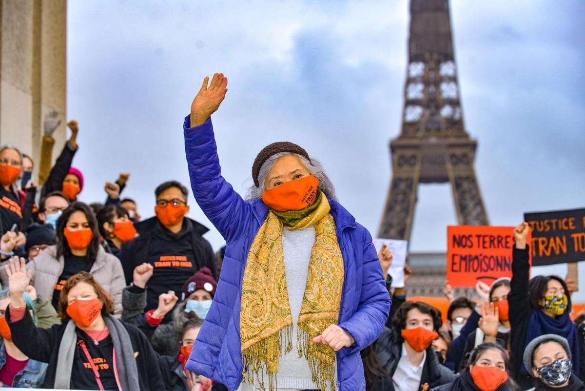 Vụ kiện của bà Trần Tố Nga ngày càng được dư luận ủng hộ. Ảnh: Collectif Vietnam-Dioxine