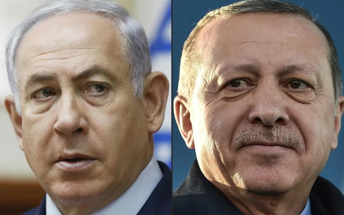 Thủ tướng Israel Netanyahu (trái) và Tổng thống Thổ Nhĩ Kỳ Erdogan. Ảnh: AFP.