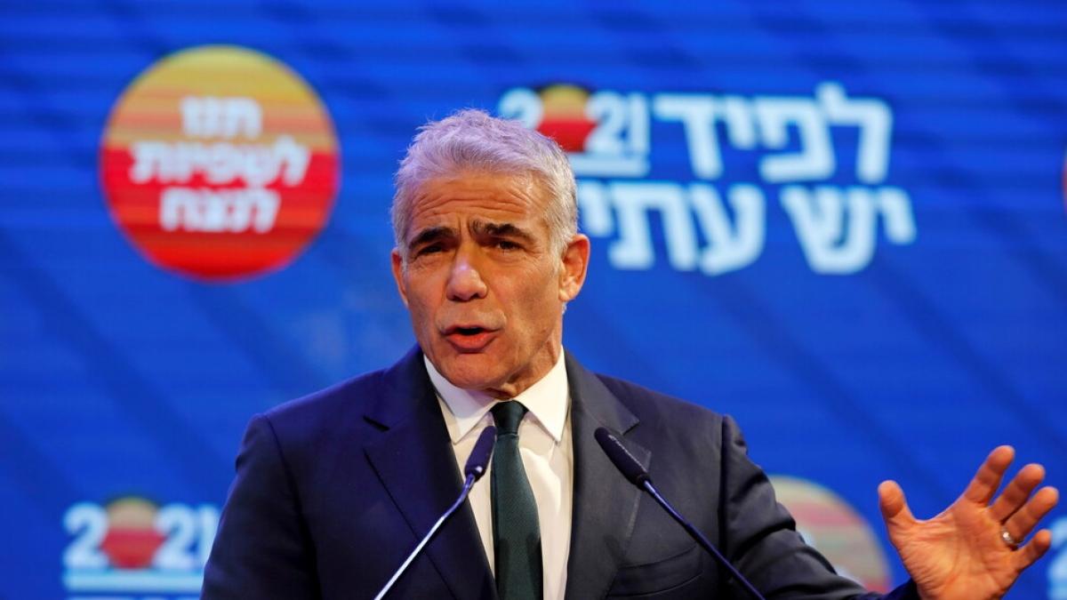 Lãnh đạo đảng Yesh Atid kêu gọi thành lập chính phủ đoàn kết. Ảnh: Reuters