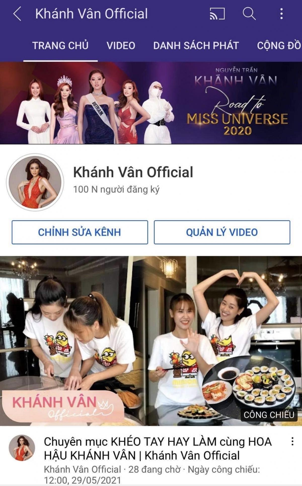 Mới đây, để chúc mừng kênh Youtube của mình đạt nút Bạc 100.000 người theo dõi, Hoa hậu Khánh Vân gửi tặng khán giả bộ ảnh đặc biệt nhằm đánh dấu sự kiện ý nghĩa này.