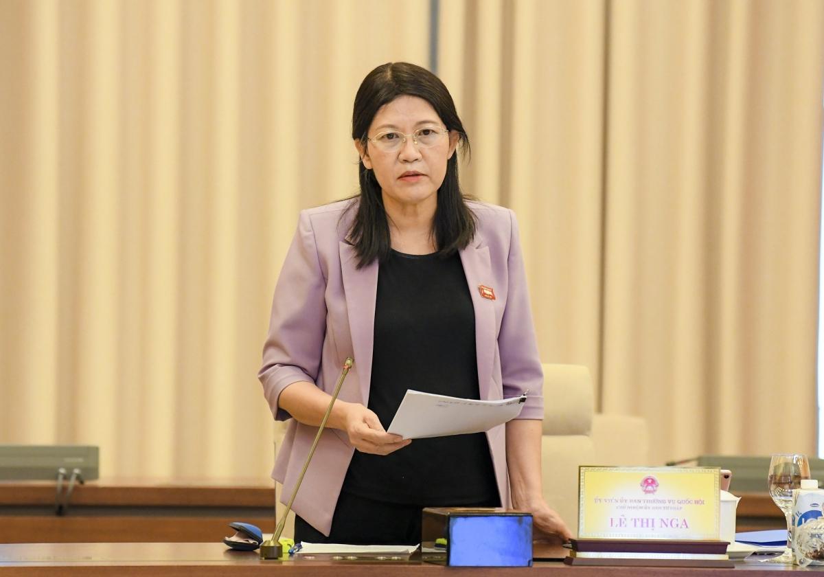 Bà Lê Thị Nga - Chủ nhiệm Uỷ ban Tư pháp