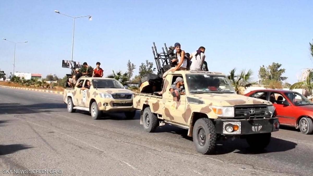 Lính đánh thuê nước ngoài tại Libya. Ảnh: Skynews Arabia