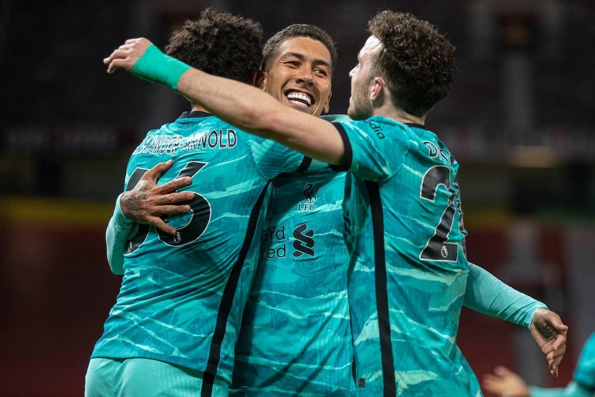 Liverpool ngược dòng ngay tại Old Trafford để níu kéo hy vọng dự Champions League. (Ảnh: Getty).