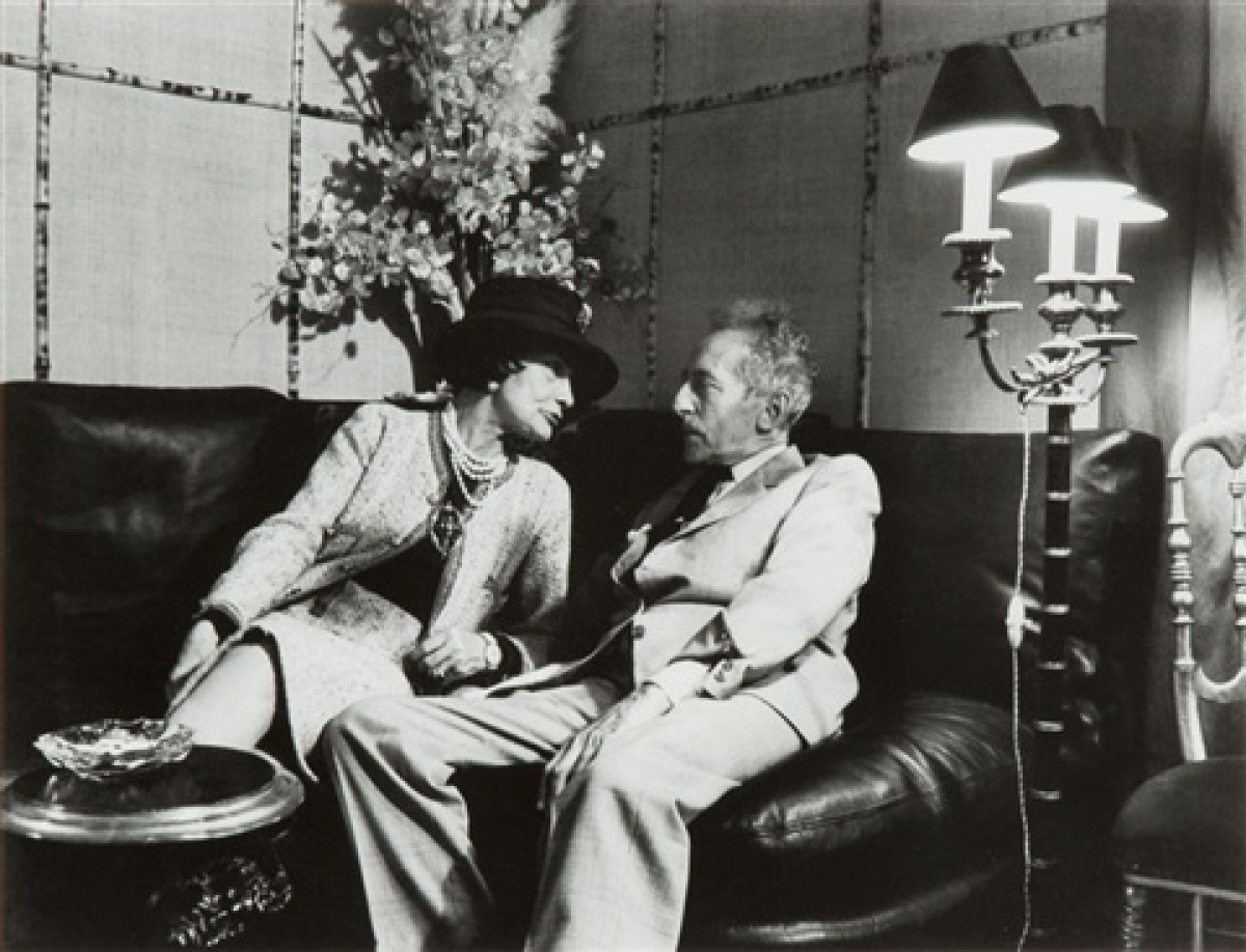 "Jean Cocteau vàGabrielle ""Coco"" Chanel."