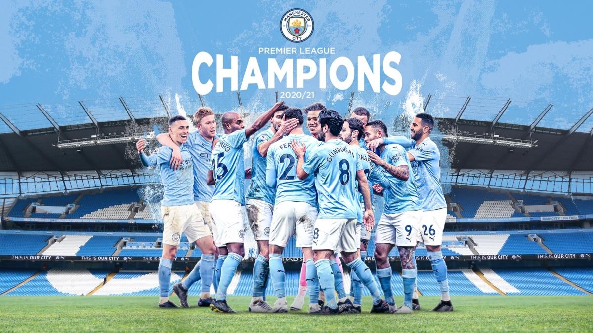 Man City chính thức vô địch Premier League 2020/2021. (Ảnh: MCFC)