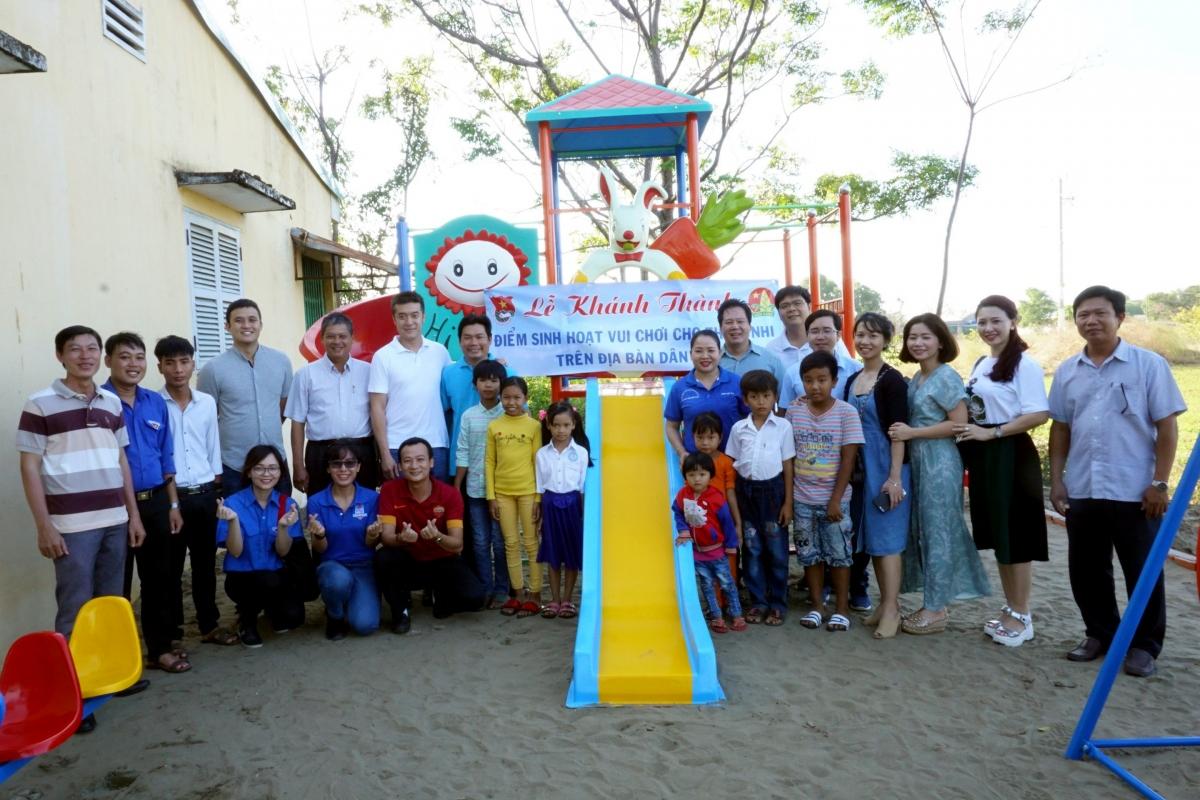 Một trong những điểm sinh hoạt cho trẻ vùng nông thôn được Tỉnh đoàn Trà Vinh vận động hỗ trợ xây dựng.