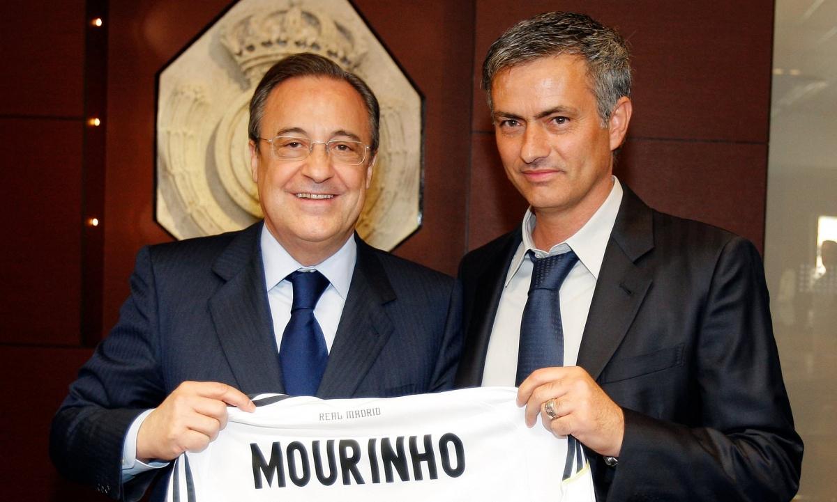 HLV Mourinho trong ngày ra mắt Real Madrid. (Ảnh: Getty).