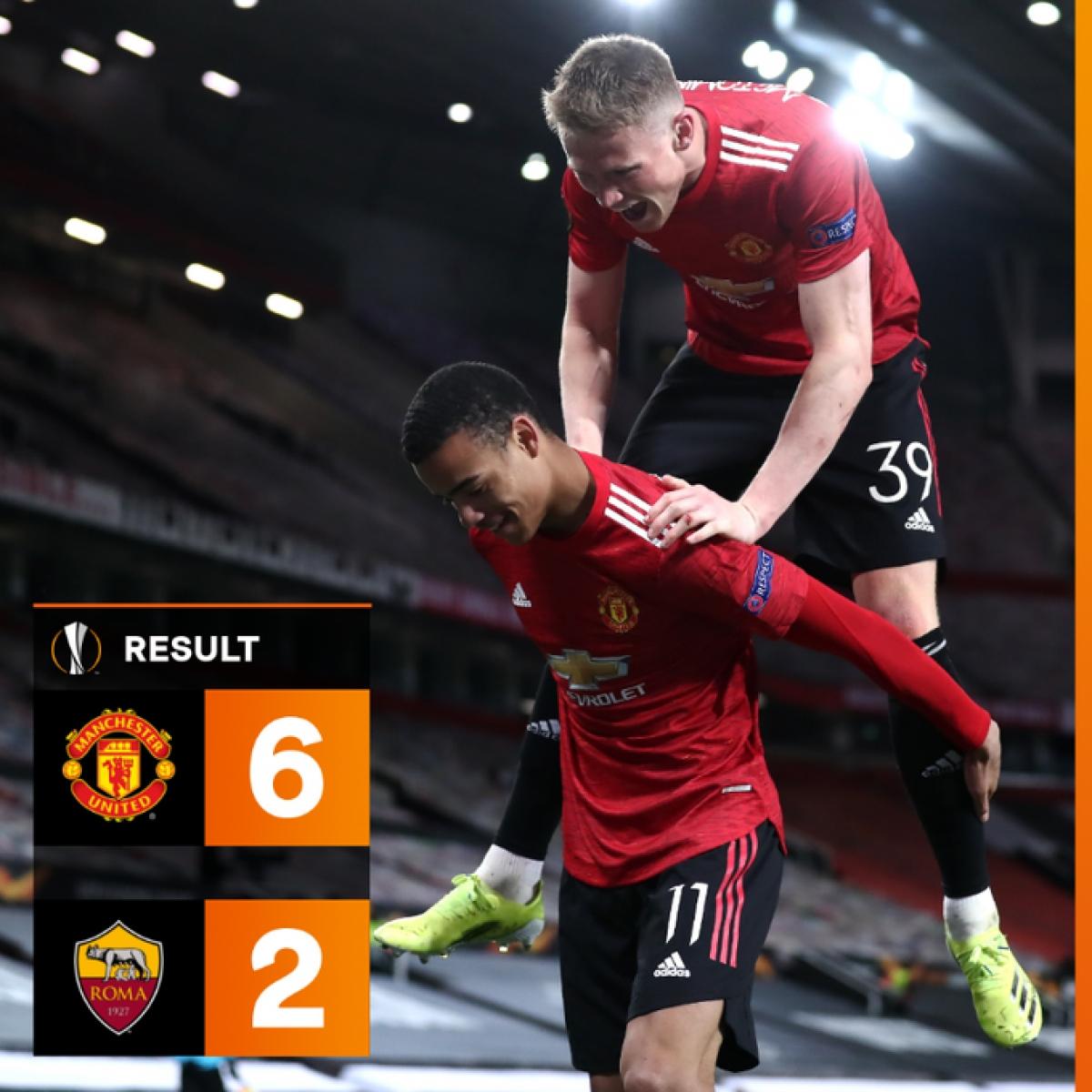 MU đã đè bẹp AS Roma trong trận lượt đi trên sân Old Trafford. (Ảnh: UEFA)
