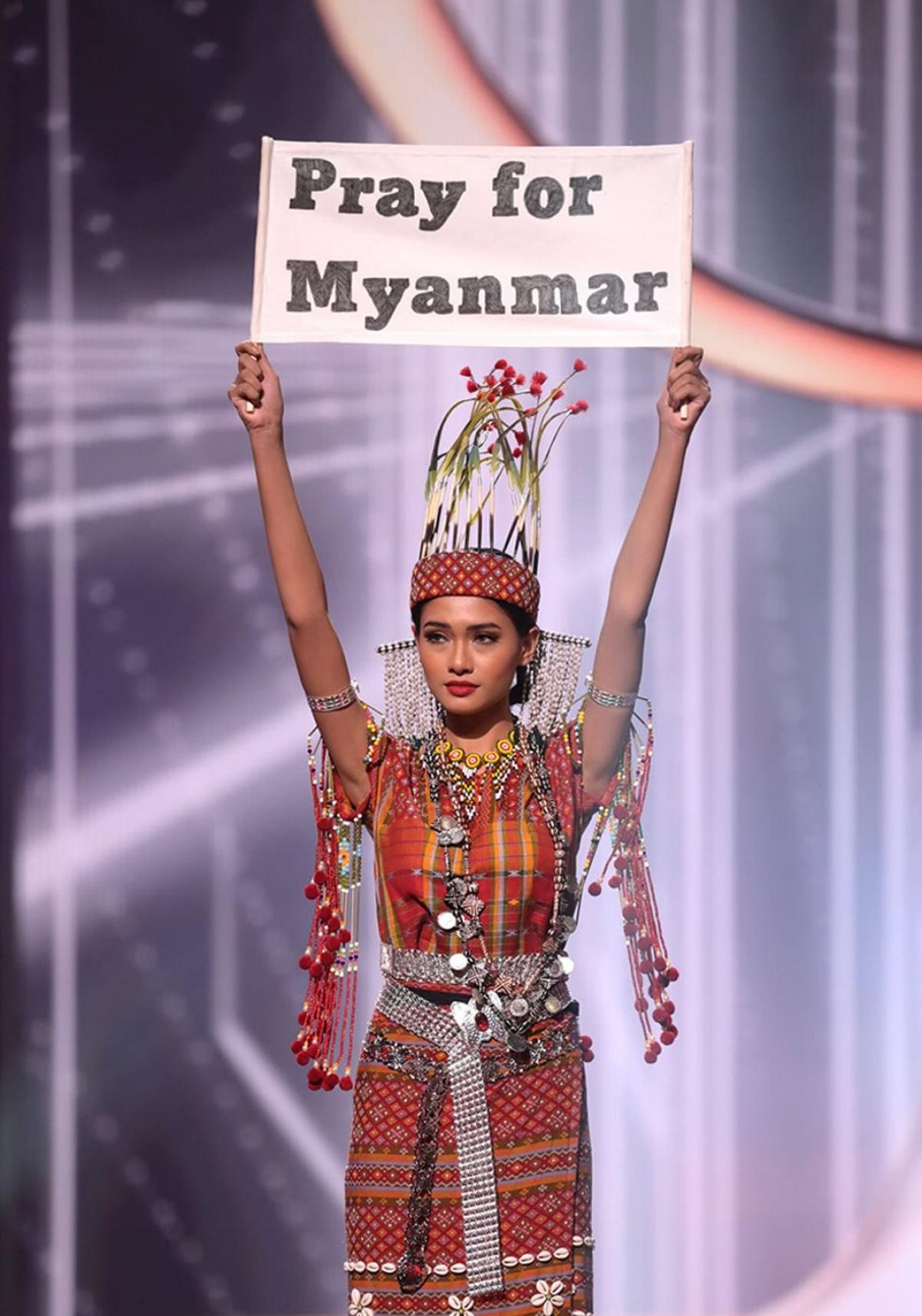 Hoa hậu Myanmar.