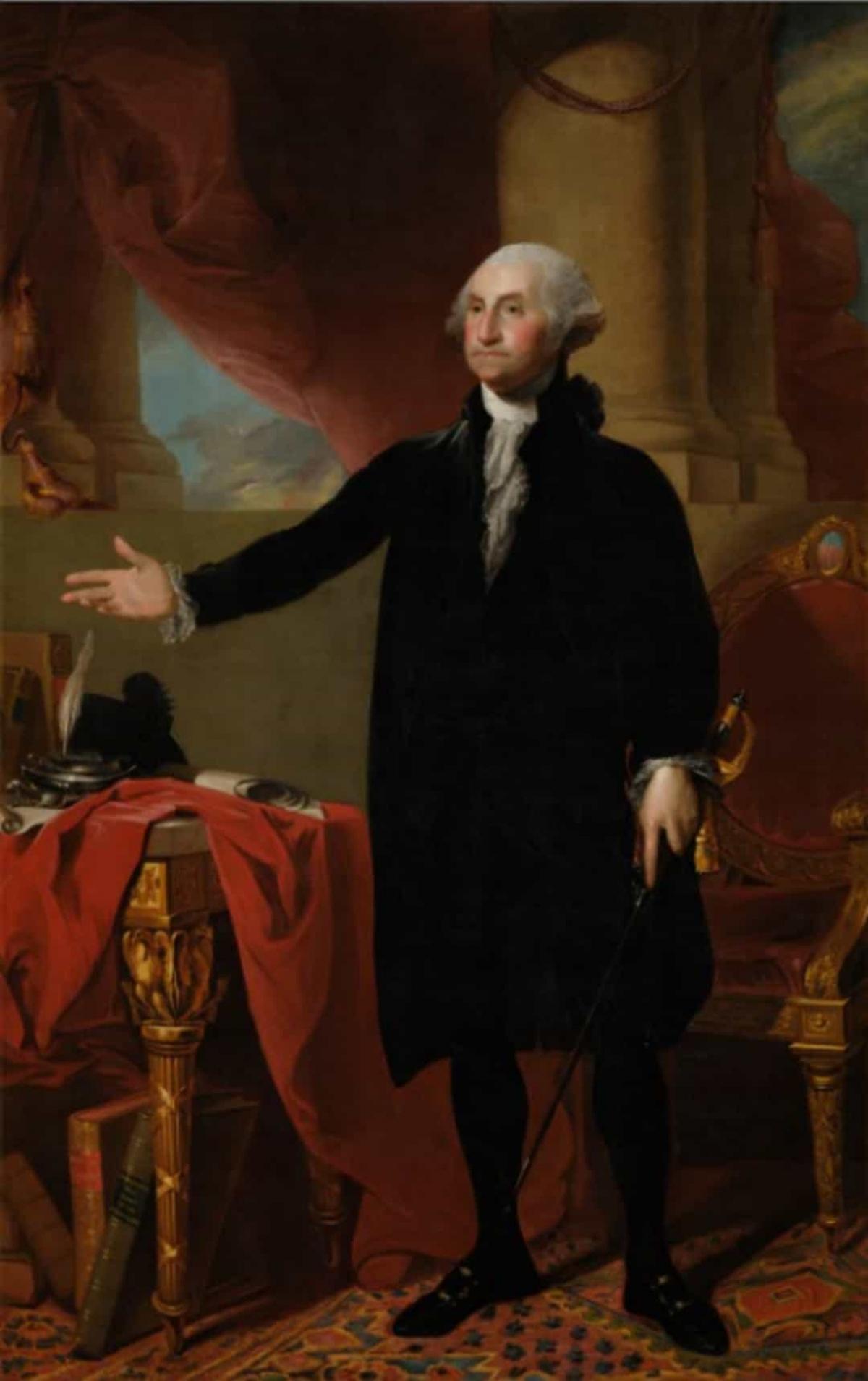 Năm 1814, quân đội Anh đốt cháy Nhà Trắng và chỉ có một bức tranh duy nhất của cựu Tổng thống George Washington được giữ lại bởi cựu Đệ nhất phu nhân Dolley Madison.