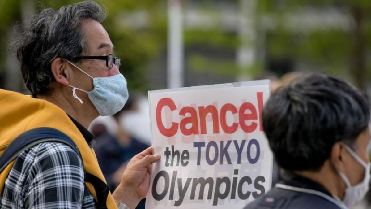 Ở Nhật Bản, ngày càng có nhiều lời kêu gọi hủy Thế vận hội Tokyo 2020/2021. Ảnh: Getty.
