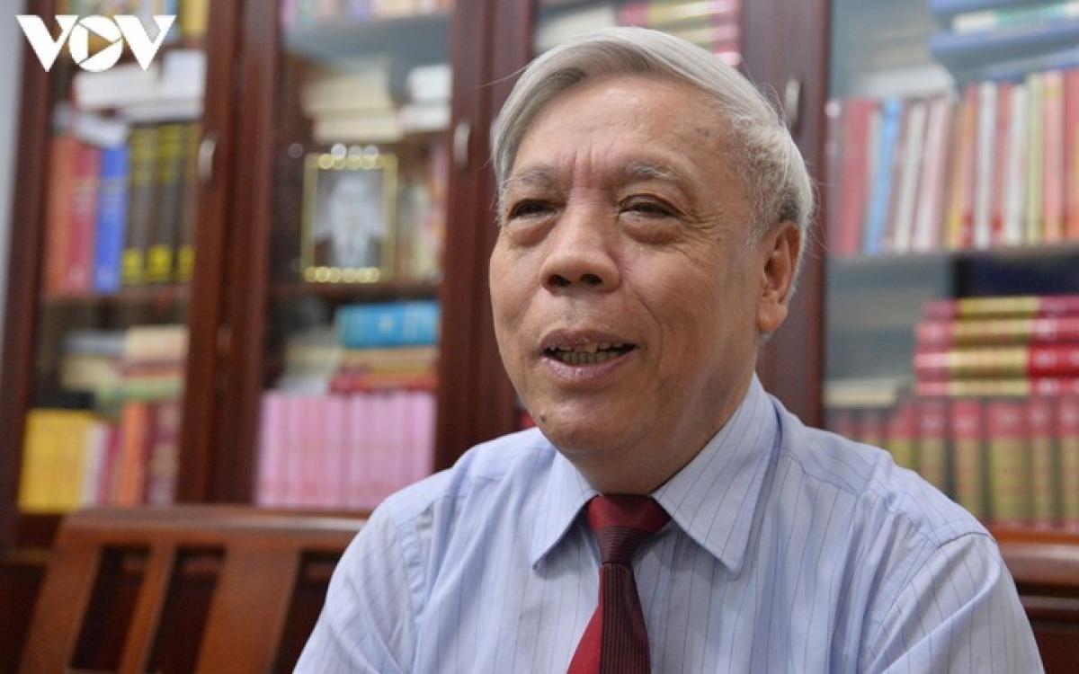 PGS.TS Nguyễn Trọng Phúc, nguyên Viện trưởng Viện Lịch sử Đảng – Học viện Chính trị Quốc gia Hồ Chí Minh.