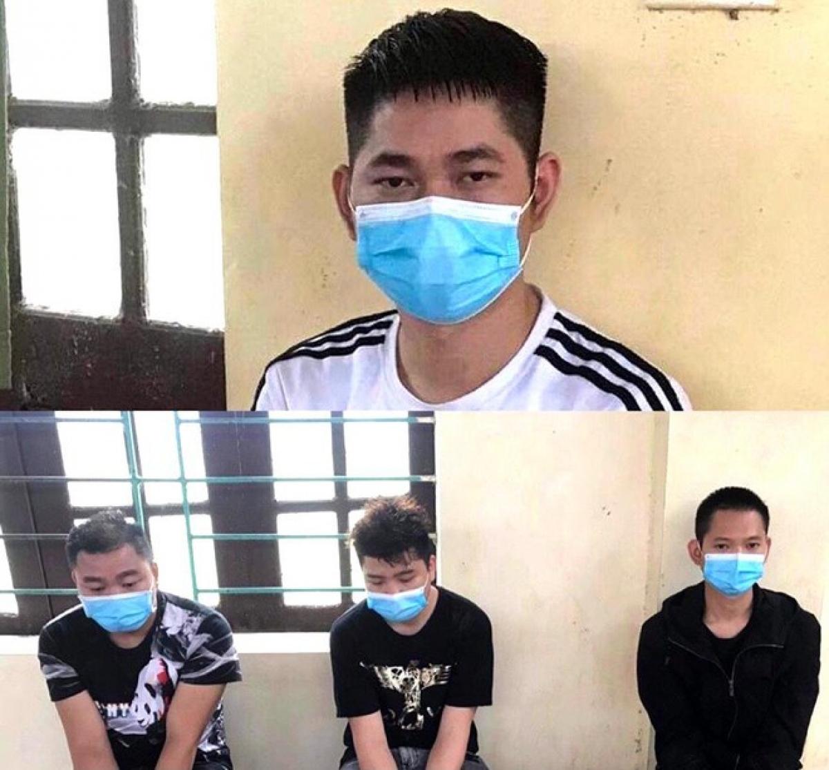 4 người Trung Quốc bị bắt giữ khi đang lang thang trên đường xã Thái Hoà, huyện Lập Thạch