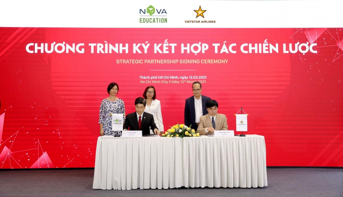 Nova Education Group và Vietstar Airlines ký kết hợp tác chiến lược.