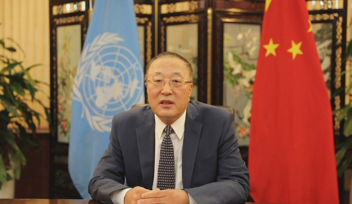 Ông Trương Quân, Trưởng Phái đoàn Trung Quốc tại Liên Hợp Quốc. Ảnh: Tân Hoa Xã