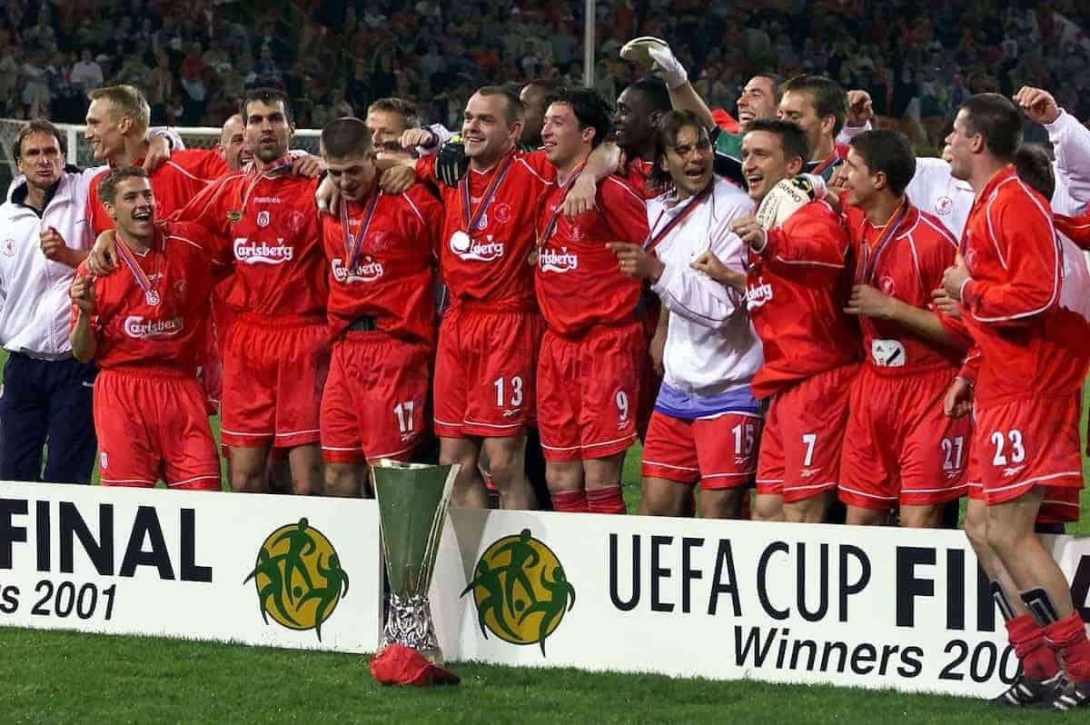 Ngày này 20 năm trước, Liverpool đăng quang UEFA Cup sau chiến thắng kịch tính trước Alaves. (Ảnh: Liverpool FC).