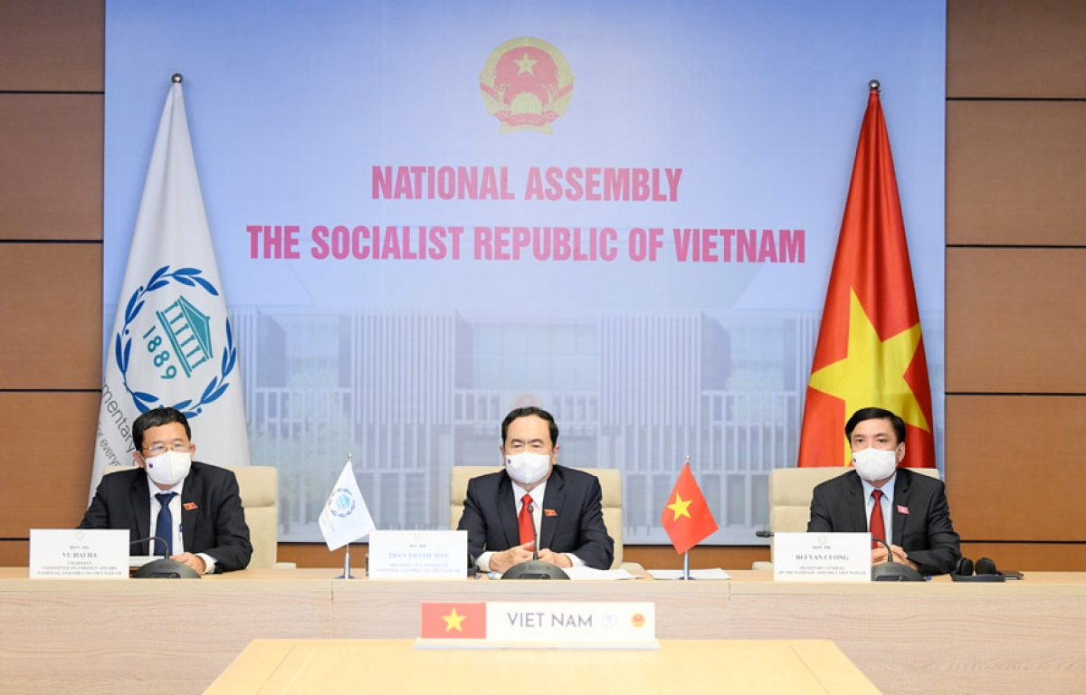Việt Nam dự khai mạc Đại hội đồng Liên minh Nghị viện Thế giới (IPU) lần thứ 142. (Ảnh: KT)