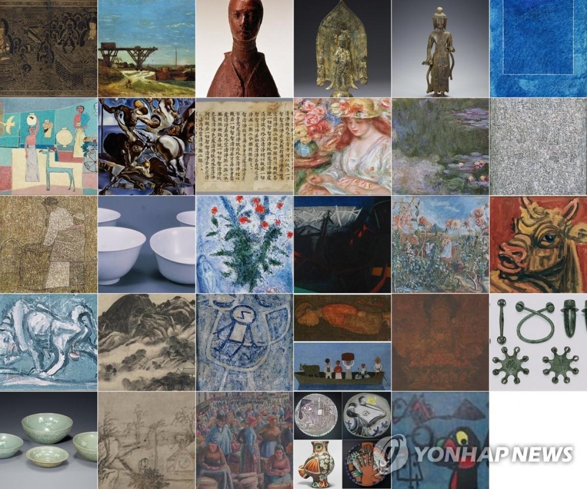 Một số tác phẩm trong bộ sưu tập 23,000 hiện vật của cố Chủ tịch Samsung Lee Kun-hee. Nguồn: Yonhap