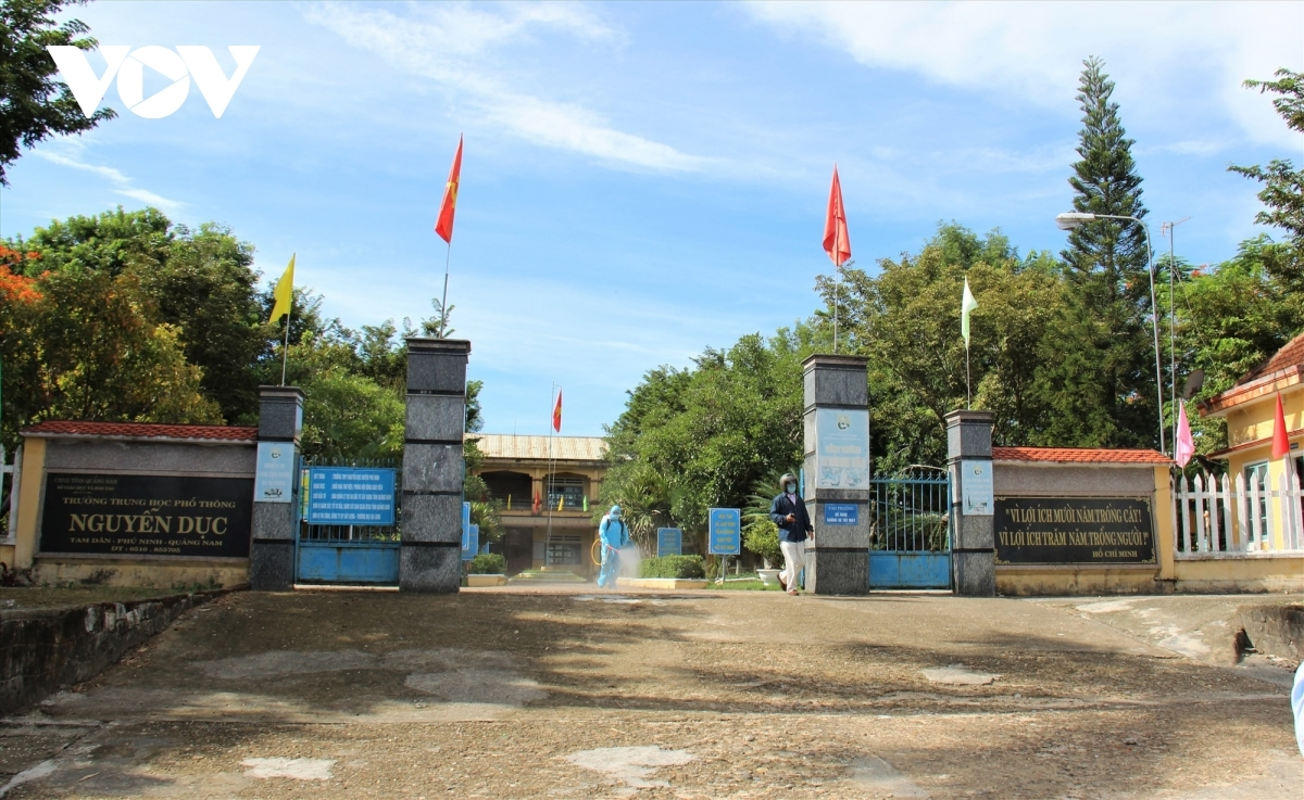 Tỉnh Quảng Nam cho học sinh nghỉ học để phòng chống dịch bệnh Covid-19 (ảnh:Đình Thiệu- Thanh Thắng/VOV-Miền Trung)