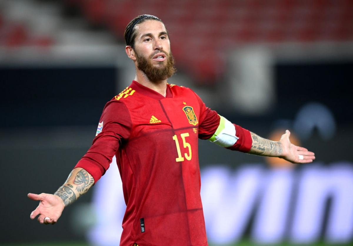 Sergio Ramos vắng mặt trong danh sách ĐT Tây Ban Nha dự EURO 2020. (Ảnh: Getty).