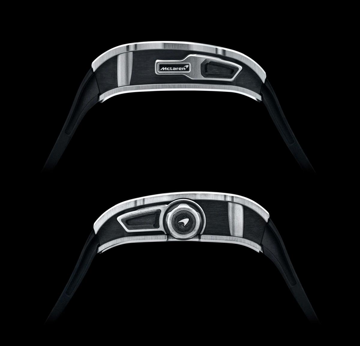 """Julien Boillat – Giám đốc kỹ thuật của Richard Mille chia sẻ: """"Chiếc đồng hồ này là một trong những chiếc đồng hồ có độ hoàn thiện cao nhất được sản xuất tại Richard Mille. Sự tỉ mỉ đến từng chi tiết, những hiệu ứng bóng gương, phẳng và satin hóa ở những khu vực khác nhau và kết hợp sử dụng titan và carbon TPT. Riêng phần vỏ đã được làm từ 69 bộ phận khác nhau""""."""