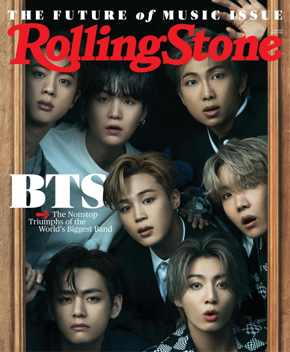 BTS tren trang bìa tạp chí Rolling Stone số tháng 6/2021