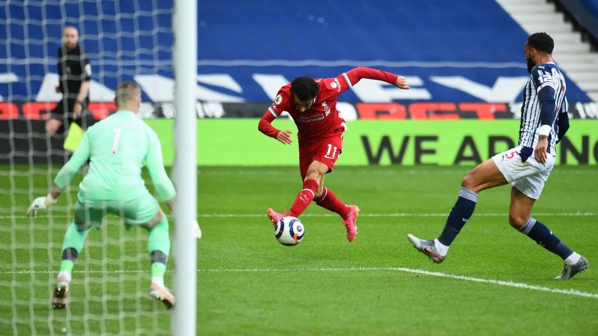 Salah đang là cầu thủ chơi hay nhất bên phía Liverpool nhưng các đồng đội của anh đang thi đấu không ấn tượng. (Ảnh: Premier League).