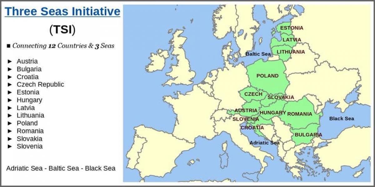Sáng kiến Ba Biển là một cửa ngõ kinh tế vào Đông Âu. Ảnh: KT