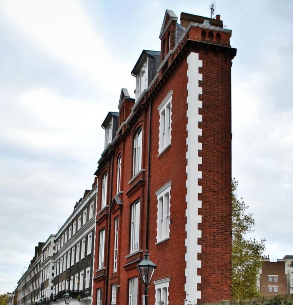 Tòa nhà 'siêu mỏng' này là một chung cư nhỏ ở thủ đô London, nước Anh.