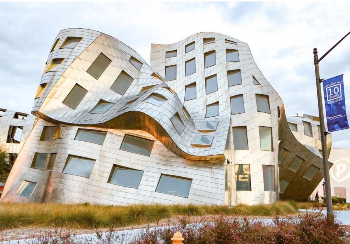 Tòa nhà hình biến dạng này là một trung tâm tổ chức sự kiện có tên 'Giữ mãi những khoảnh khắc đáng nhớ' ở thành phố Las Vegas, bang Nevada, Hoa Kỳ.