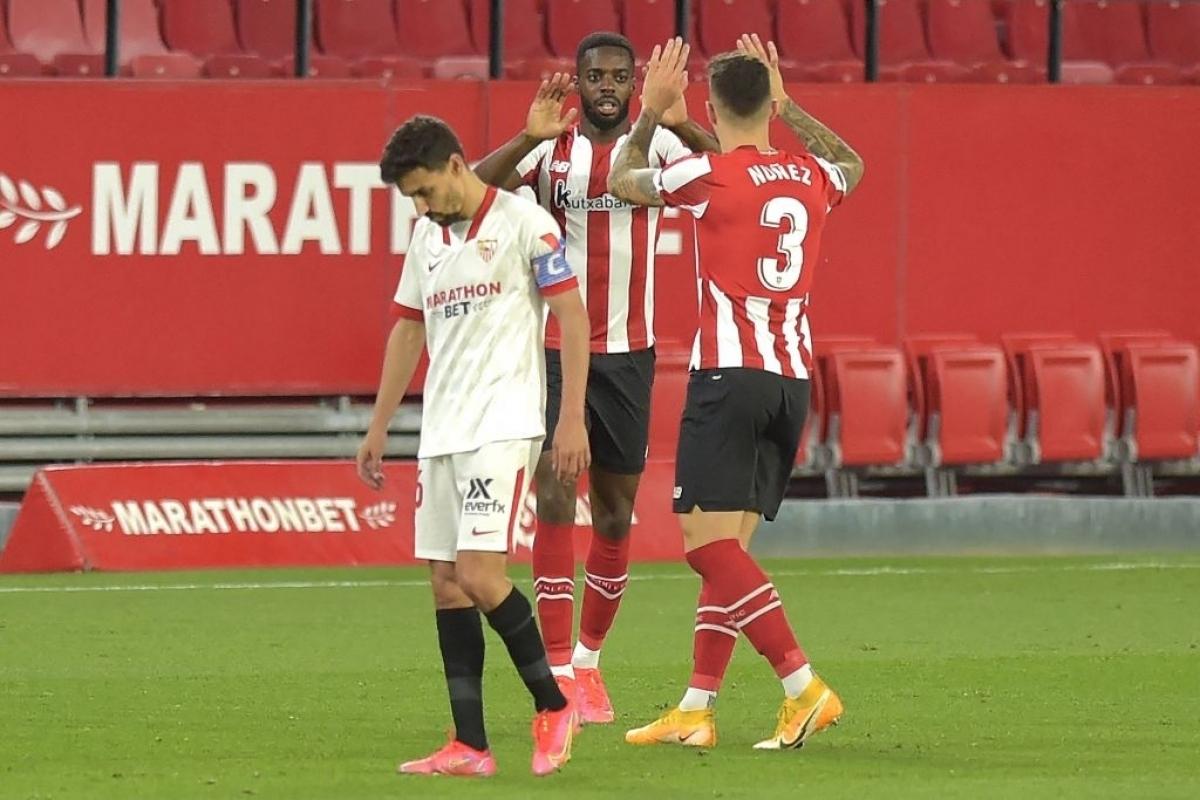 Sevilla thất bại trước Bilbao ở trận đấu muộn vòng 34 (Ảnh: Getty).