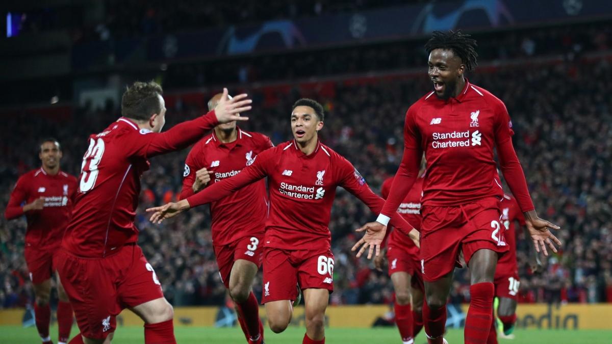 Ngày này 2 năm trước, Liverpool tạo nên cuộc lội ngược dòng kinh điển trước Barca ở bán kết Champions League. (Ảnh: Getty).