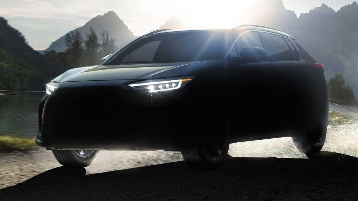 Hình ảnh mô tả sơ qua hình dáng Subaru Solterra.