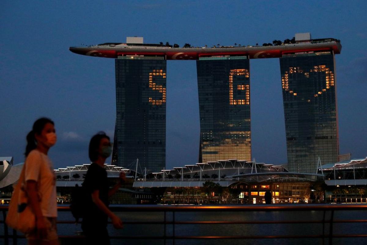 Tòa tháp Marina Bay Sands ở Singapore. Nguồn: Reuters