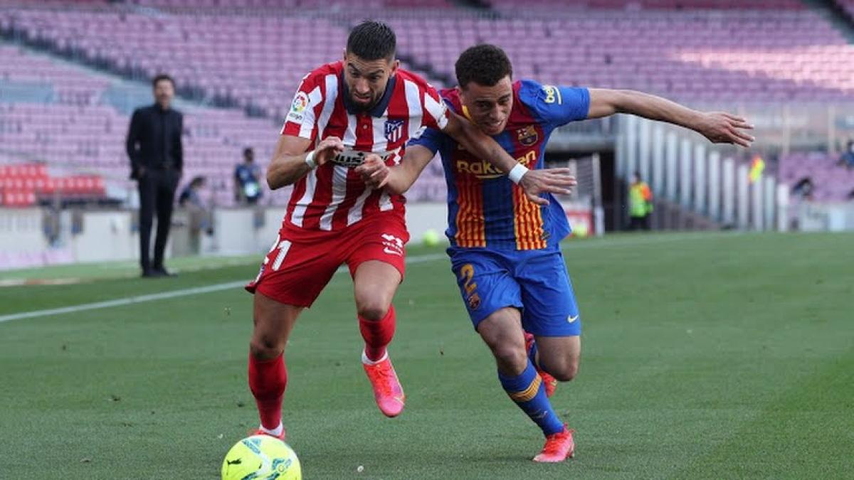 Tốc độ của Carrasco là vũ khí lợi hại của Atletico Madrid. (Ảnh: Reuters)