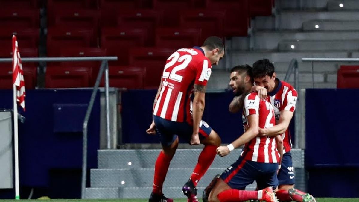 Atletico Madrid dẫn 2-0 trước Real Sociedad sau 28 phút (Ảnh: Reuters).