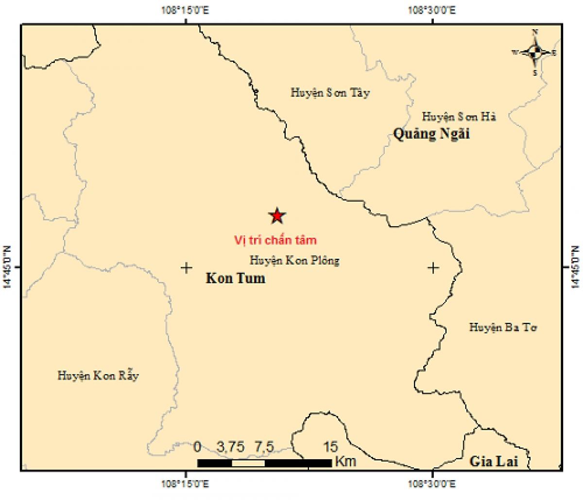 Vị trí trận động đất số 2