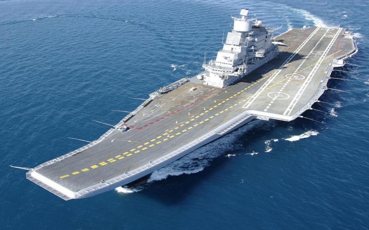 Tàu sân bay của Ấn Độ thời điểm trước vụ hỏa hoạn. Ảnh: Naval technology.
