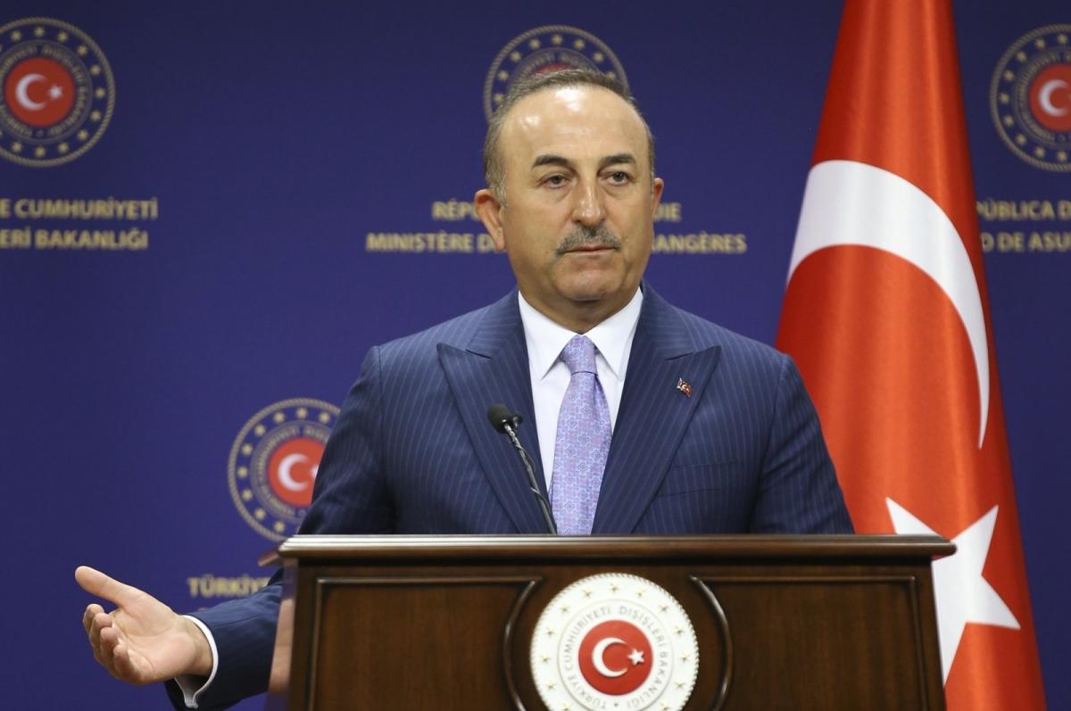 Bộ trưởng Ngoại giao Thổ Nhĩ Kỳ Mevlut Cavusogl. (Ảnh: AP)