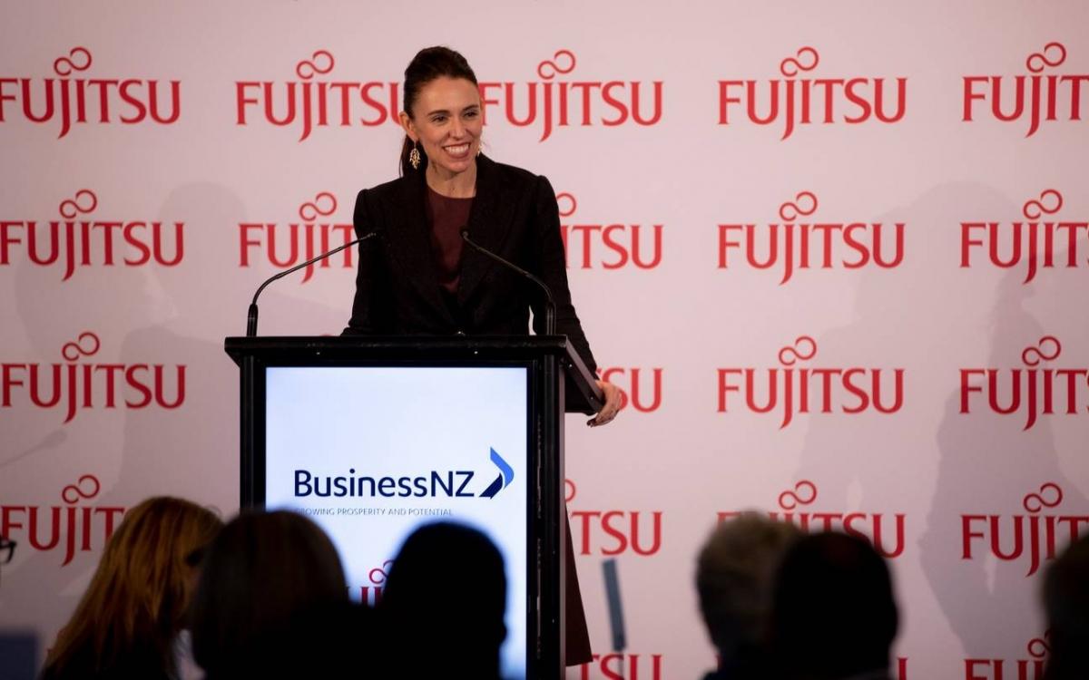 Nữ Thủ tướng New Zealand Adern. Ảnh:Dean Purcell.