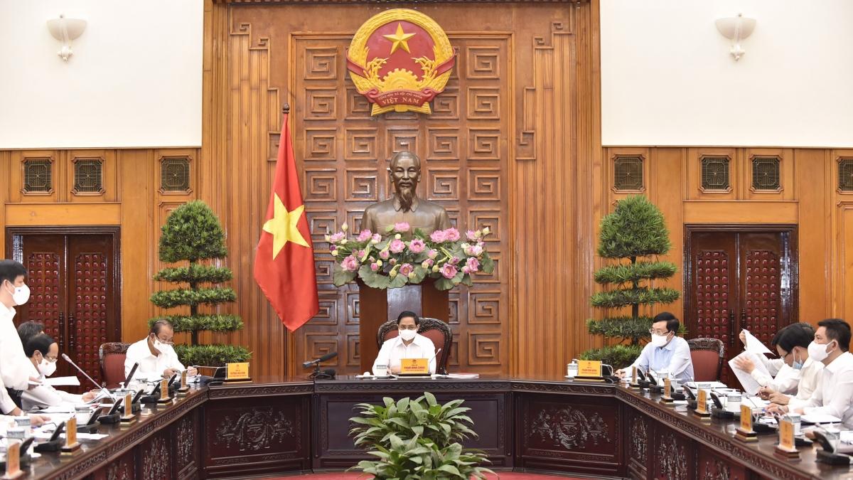 Thủ tướng chủ trì phiên họp của thường trực Chính phủ vềcông tác phòng chống dịch Covid-19
