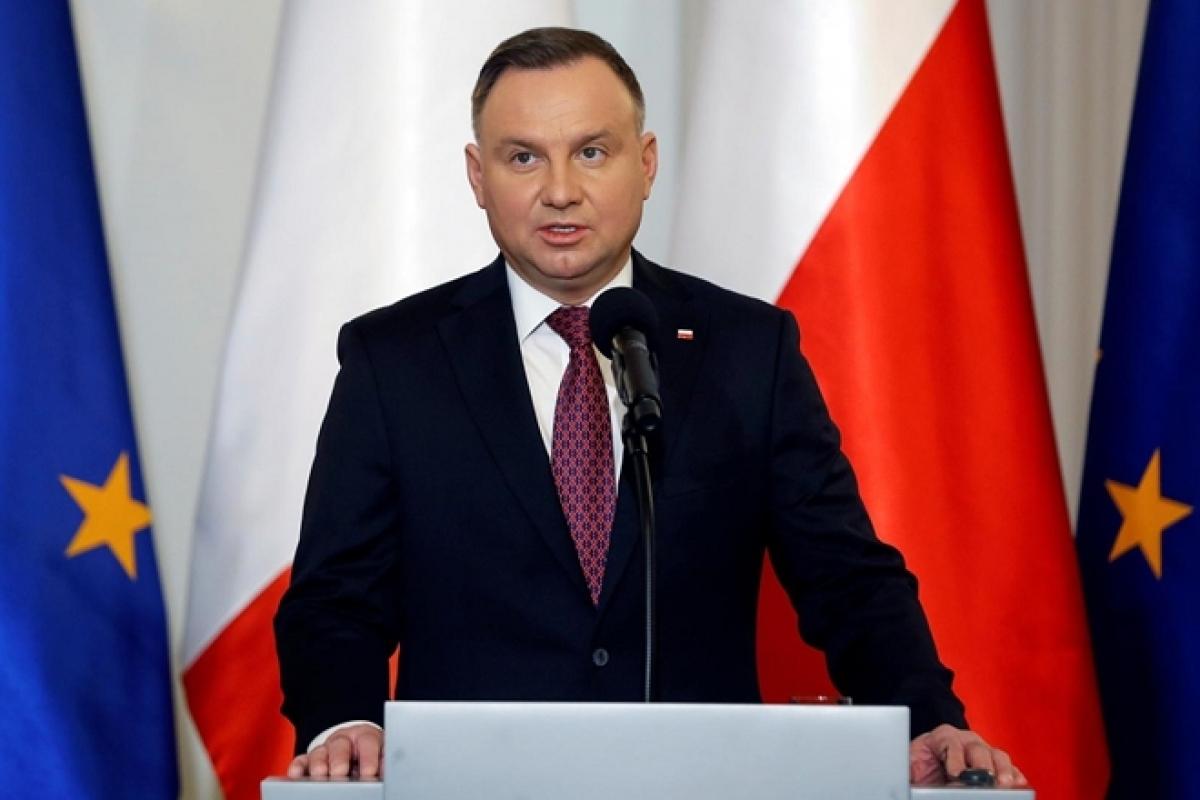 Tổng thống Ba Lan Andrzej Duda. Ảnh Reuters.