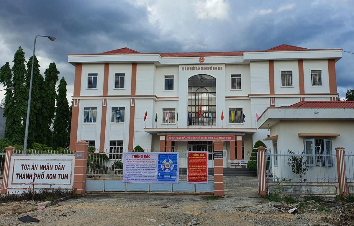 Trụ sở Tòa án thành phố Kon Tum nơi ông Nguyễn Văn Tuấn công tác.