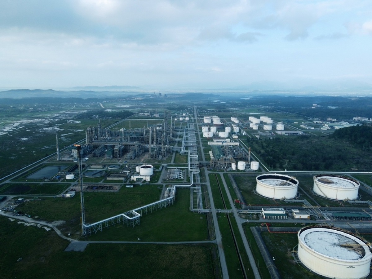 Toàn cảnh Nhà máy lọc dầu Dung Quất