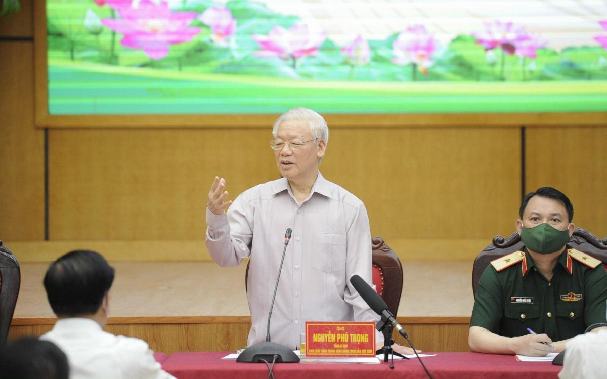Tổng Bí thư Nguyễn Phú Trọng phát biểu tại Hội nghị.