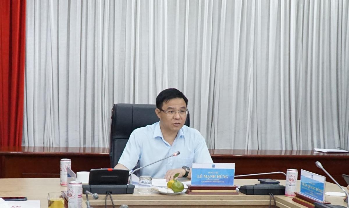 Tổng Giám đốc Petrovietnam Lê Mạnh Hùng phát biểu chỉ đạo