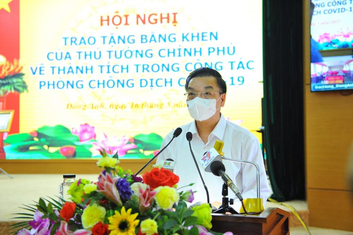 Ông Chu Ngọc Anh phát biểu tại buổi lễ.